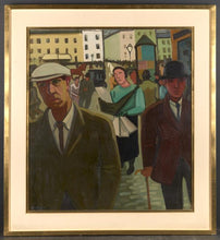 Charger l'image dans la galerie, Early 20th C, Brabant Fauvism, Signed Louis François Decoeur (Namur,1884-1960), Animated Street, Oil on Canvas,100 x 90 cm, Framed.