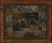 Afbeelding in Gallery-weergave laden, 17th C, Baroque, Biblical, Attr. to Frans II Francken (Antwerp, 1581-Antwerp, 1642),  The Prodigal Son, Oil on Panel, Mark of the Panel Maker Lambrecht Steens on the Rear Side, 50 x 64 cm, Framed
