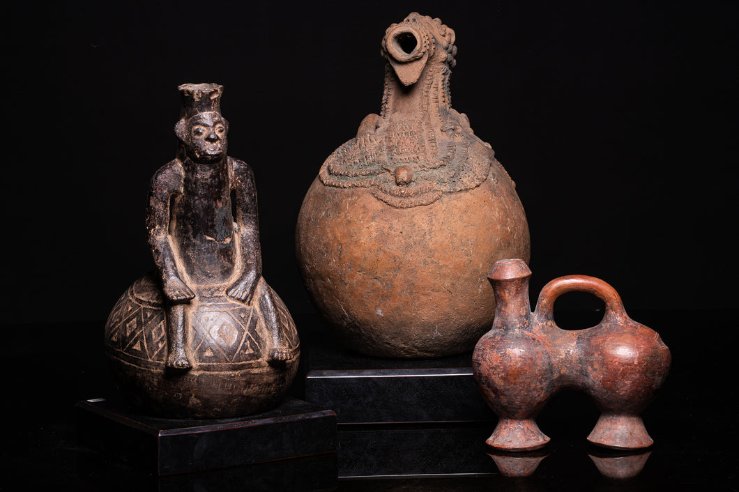 Selection of Fine Decorative Terracotta Tribal Vessels.
