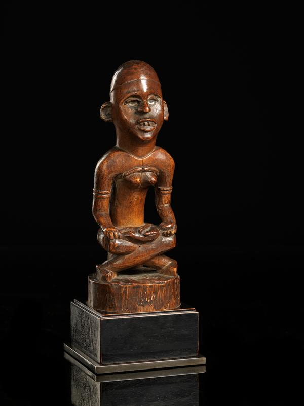 Bakongo People, DRC. Wooden Mother and Child