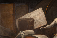 Lade das Bild in den Galerie-Viewer, 17th C, Baroque Still Live, Jacques de Claeuw (Dordrecht, 1623-Leyden, 1694), Vanitas,Oil on Canvas, 109 x  121 cm, Framed & Dated 1689.