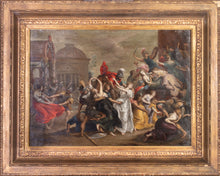 Load image into Gallery viewer, 17th C, Dated 1632, Baroque, Historical, Simon Floquet (Floeket, Flokeet, Flo(c)quet) (Antwerp?, c. 1615 – Antwerp?, after 1635); The Abduction of the Sabine Women, Oil on Copper, 71 x 88 cm, Framed