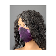 Unisex Purple and Black Tie Dye Print Face Mask