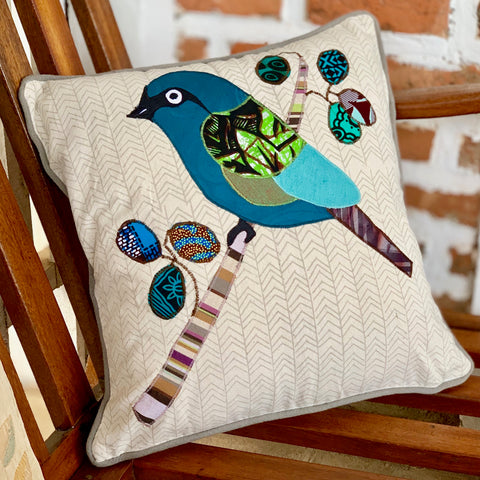 Bird with Berries Pillow