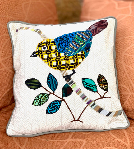 Cheerful Bird Pillow