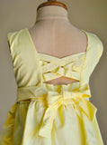 Yellow Hand Smocked Girl's Dress