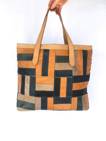 Mosaic Leather Bag
