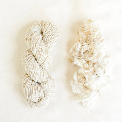 Organic Merino Wool Yarn - Natural
