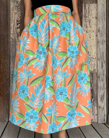 Kaba Skirt - Apricot Floral