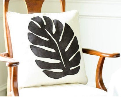 Tropical Leaf Pillow