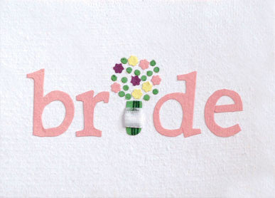 Bridal Bouquet Card