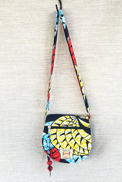 Small Cross Body Bag- Swirl Batik