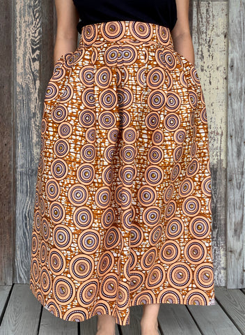 Kaba Skirt - Peach Circles