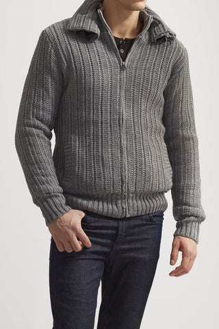 American Stitch Zip-up Sweater