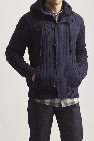 American Stitch Navy Hooded Sweater