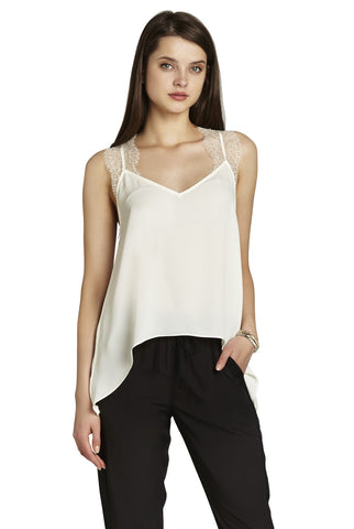 BCBGeneration Lace Trim Tank