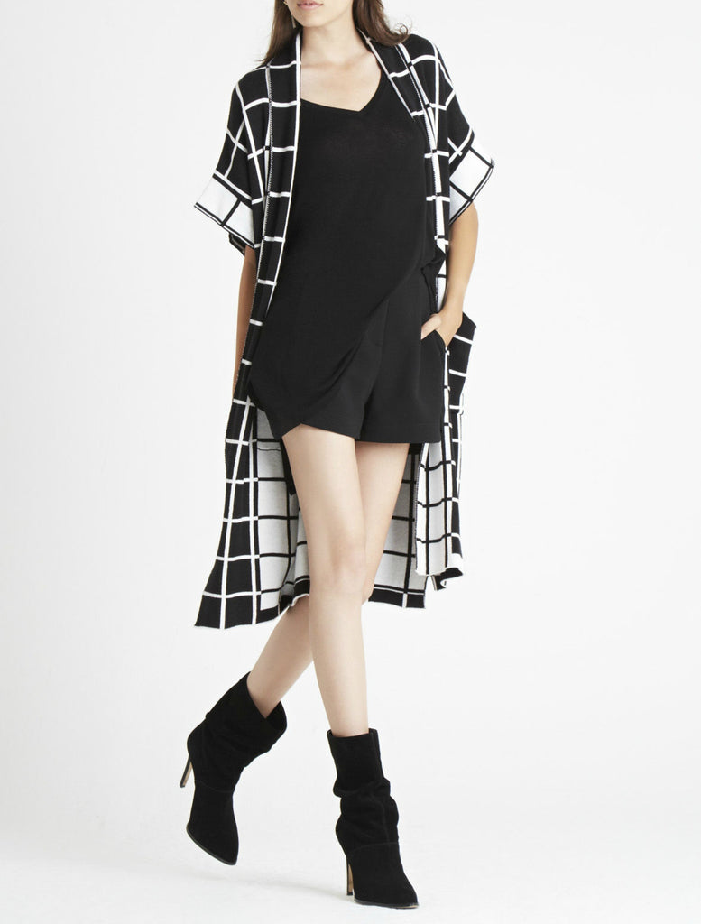 BCBGeneration Grid Jacquard Duster