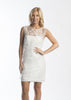 French Connection Pollen Party White Beaded Dress