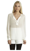 BCBGeneration Woven White Top