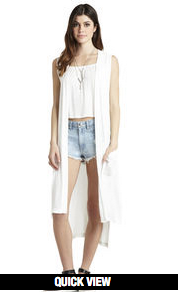 BCBGeneration Sheer Knit Vest Whsprwhite