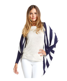 Tart Collection Darla Cardigan Navy With Stripe