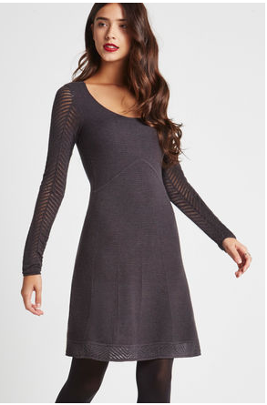 BCBGeneration Drop Needle-Sleeve Sweater Dress
