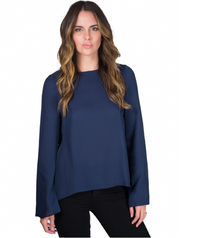 Blaque Label Open Back Top Navy