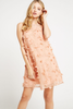 BCBGeneration - KNIT CKTL DRESS PEACH COMBO