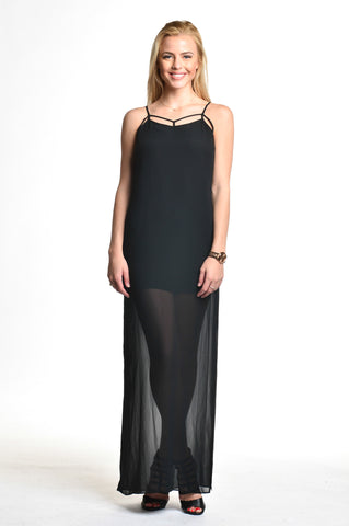 BCBGeneration - Sheer Black Maxi