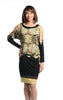 Cartise Black/Beige Mix Dress