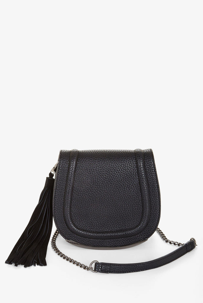 BCBGeneration - Black Tassel Saddle Bag