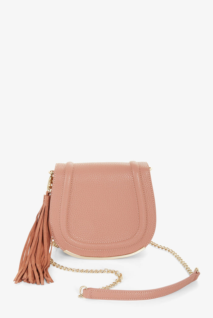 BCBGeneration - Blush Tassel Saddle Bag