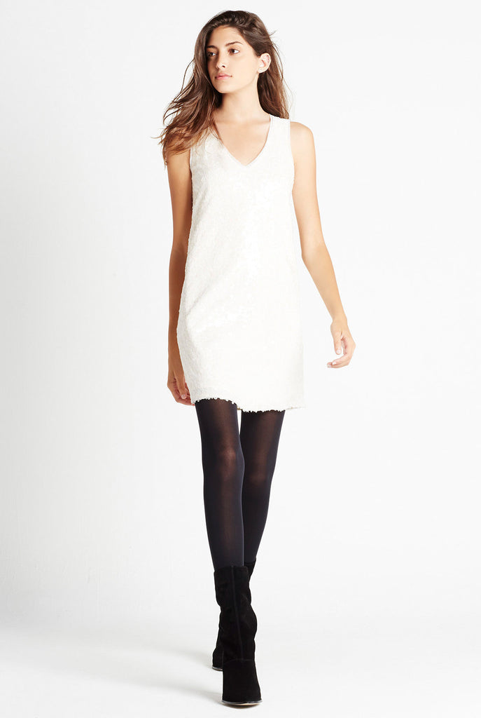 BCBGeneration Ivory Sequin Dress