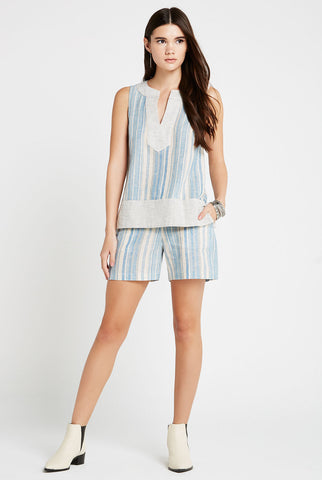 BCBGeneration - Variegated Stripe Boyfriend Short