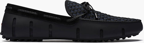 SWIMS - Black Woven Lace Loafers