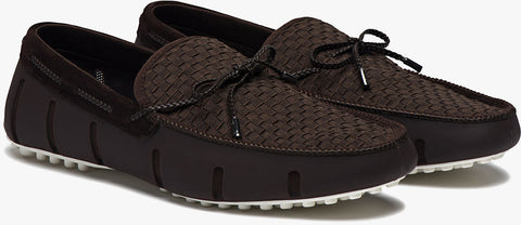 SWIMS Woven Lace Loafer - Brown