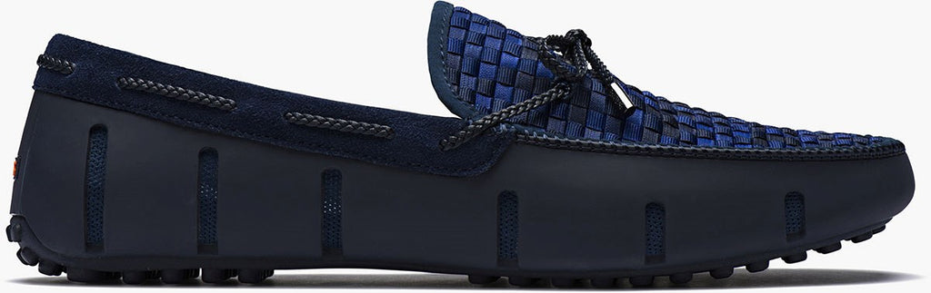 SWIMS - Navy Fade Woven Lace Loafers
