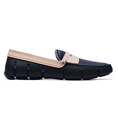 SWIMS Penny Loafer - Navy and Salmon
