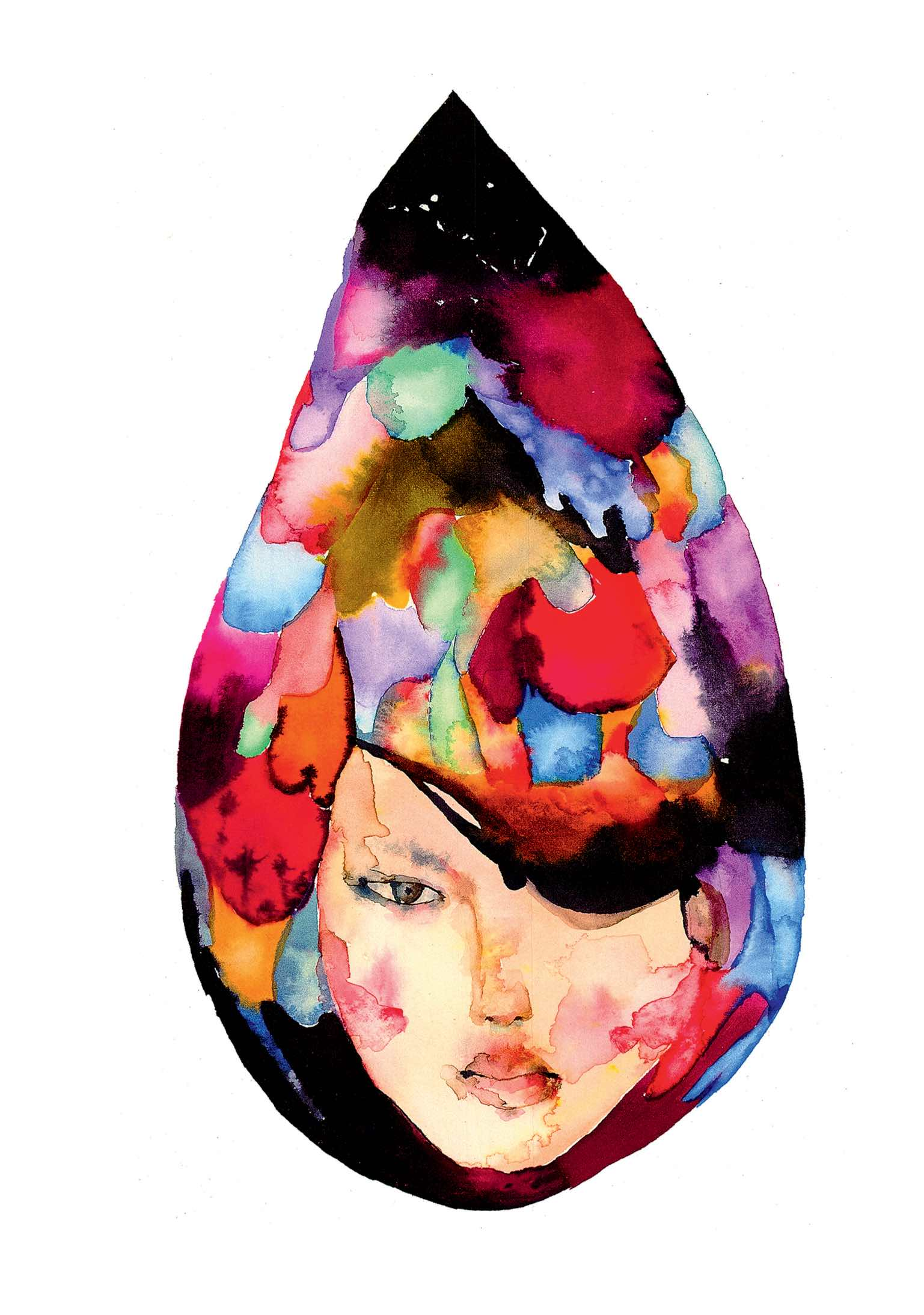 David Choe Art Watercolor