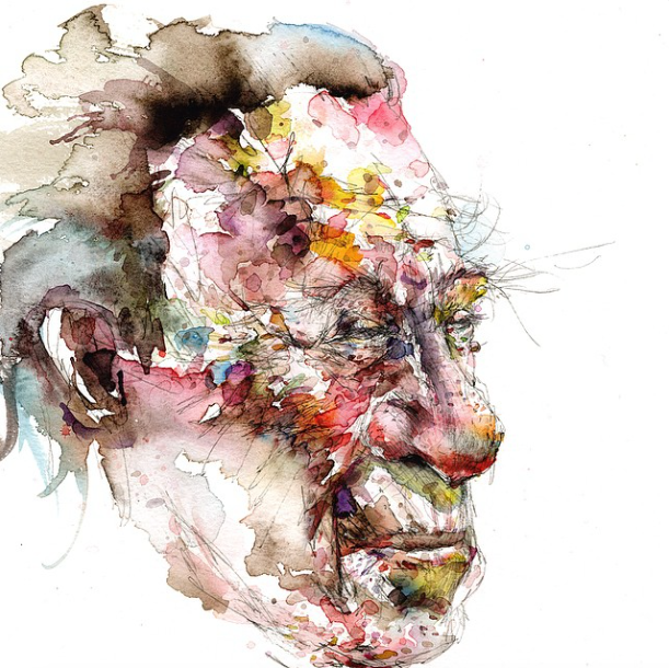 David Choe X Bukowski Watercolor