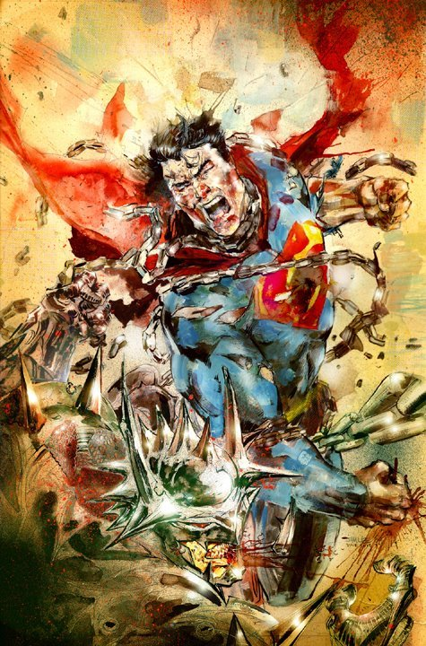 David Choe Jim Lee Superman Art