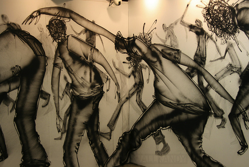 David Choe Graffiti Mural Painting