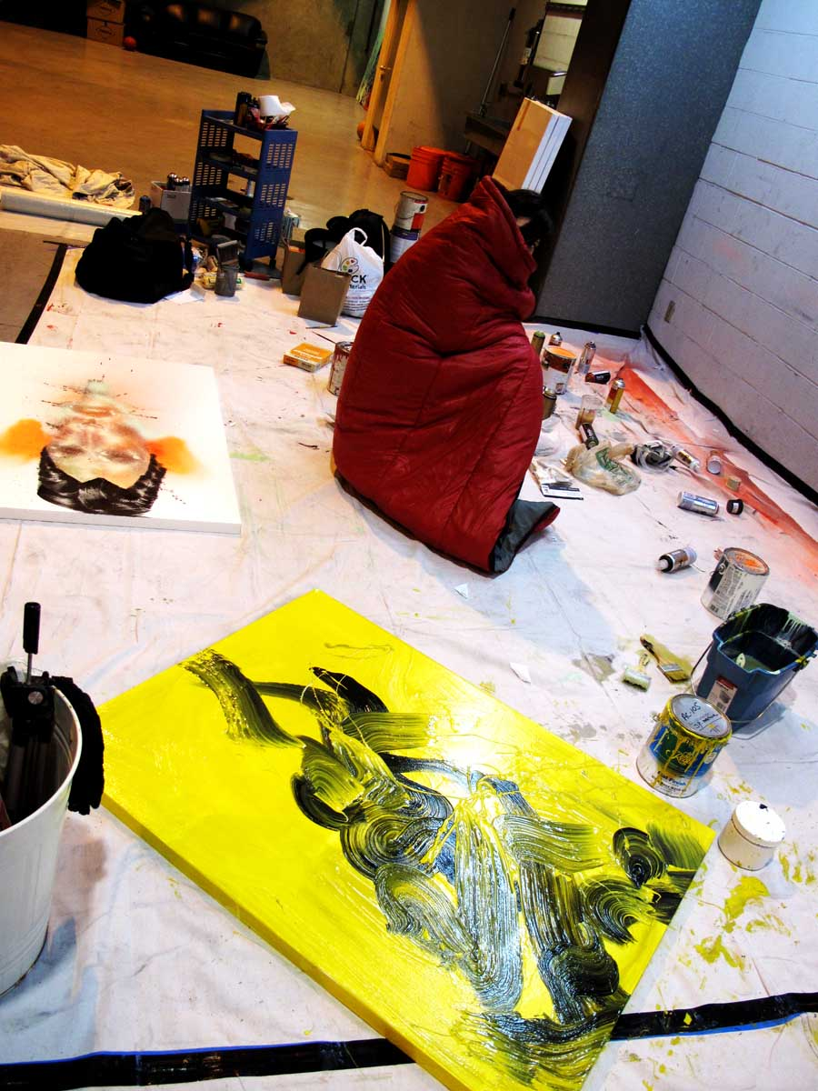 David Choe Painting Art Studio