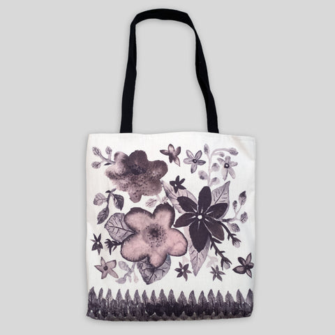 Dark Flower Power Tote