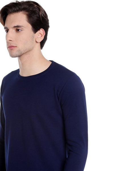 Navy blue fullsleeve apple cut tshirts