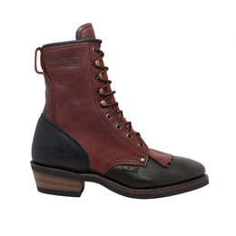 "Men's 9"" Chestnut/Black Packer - 1179 - Shop Genuine Leather men & women's boots online 