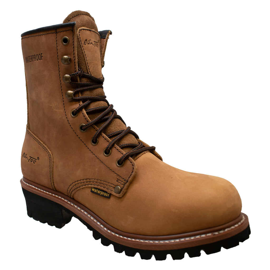 "1427WP Men's 9"" Waterproof Logger Brown"