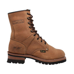 "Men's 9"" Brown Logger - 1427 - Shop Genuine Leather men & women's boots online 