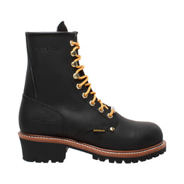 "Men's 9"" Waterproof Logger Black - 1439WP - Shop Genuine Leather men & women's boots online 