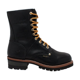 "Men's 9"" Logger Black - 1439 - Shop Genuine Leather men & women's boots online 